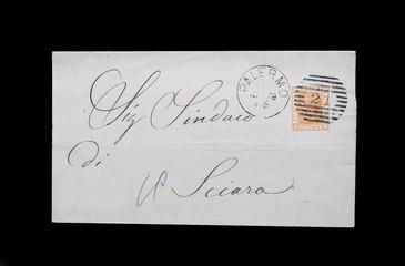 busta con francobollo del Regno d'Italia