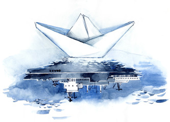 cruise liner origami