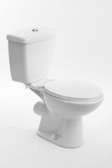 White toilet bowl, isolated on white