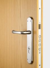 Wooden doors with lock 3