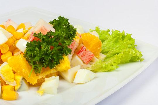 egg salad with crab sticks