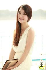 Single asian young woman
