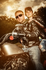 Wall Mural - Biker couple