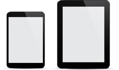 Realistic black tablets.