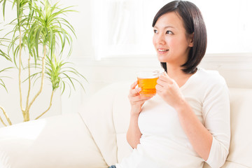 beautiful asian woman relaxing