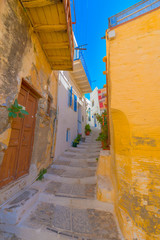 Wall Mural - Greece Syros island architecture inside main capitol with view o