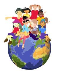 Fototapeta planeta dzieci, obraz