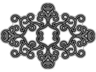 Black flourish ornament