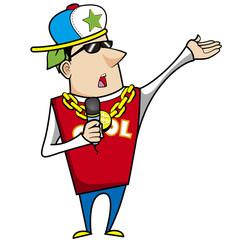 illustration of cool cartoon artiste