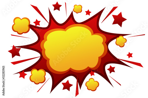 Explosion dessin anim photo libre de droits sur la - Dessin anime boom ...