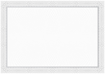 Certificate.  Gray. Pattern currency and diplomas