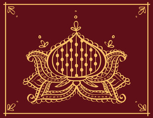 Lotus henna tattoo ornament
