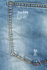 Detail of denim trousers