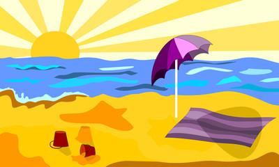 Plaża w słoneczny dzień