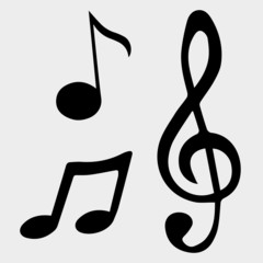 Vector illustration music note symbols