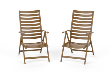Two sun loungers