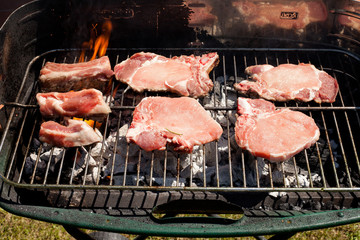 meats grilling