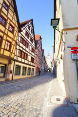 Wall Mural - Old street in Rothenburg