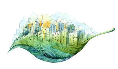 green city Fototapete
