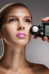 Measuring light with flash meter