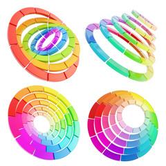 Color range spectrum circle round palette