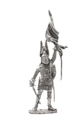 Tin soldier isolated on a white backgrounds