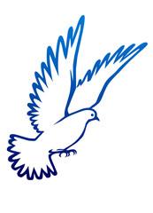Barış  sembolu  güvercin  (beyaz)