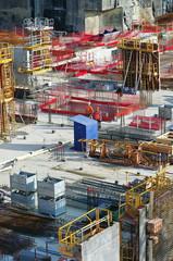 chantier -immeuble en construction