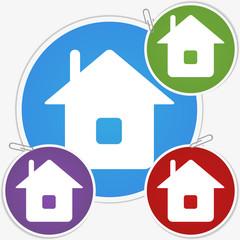 Vector illustration sticker - house