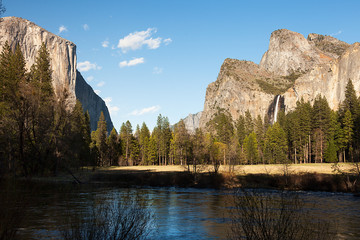 El Capitan and Bridalveil Falls, Yosemite