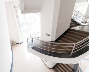 luxury stairs of modern industrial building