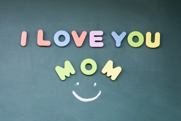 i love you mom sign