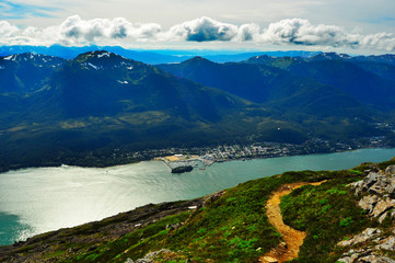 Gastineau Channel Douglas Island View from Mt Roberts Juneau