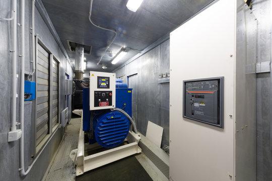 Control room diesel generator for backup power