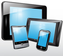 Electronic technics, tablet, mobile phone. Vector