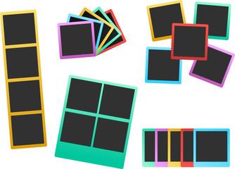 colorful photo frame set 2