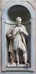 stone statue of Michelangelo Buonarroti