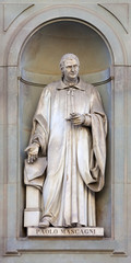 stone statue of Paolo Mascagni