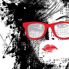 Photo sur Plexiglas Visage de femme Women in sunglasses