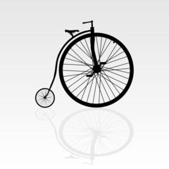 Photo sur Aluminium old bike vector illustration