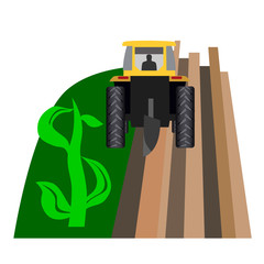 Tractor makes dollars