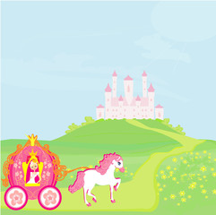 Poster Princess in carriage