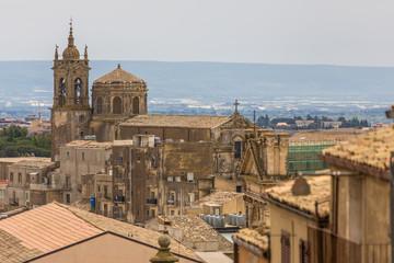 Blick auf die Kathedrale von Caltogirone
