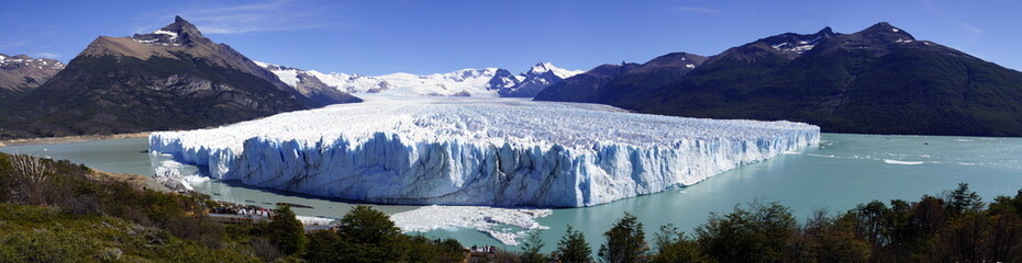 Printed kitchen splashbacks Glaciers ледник на озере