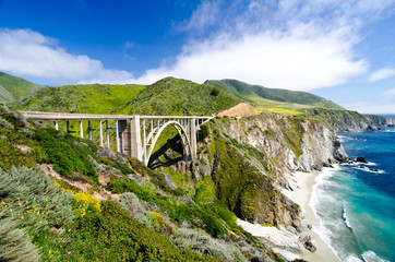 The Famous Bixby Bridge on California State Route 1 Wall mural