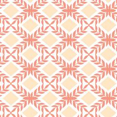Vector Peach orange argyle retro seamless pattern background
