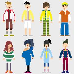 Fotobehang Pixel Fashion Pixel People