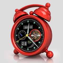 Red  alarm clock 2