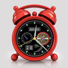 Red  alarm clock 1