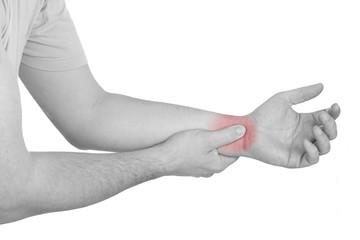 Acute pain in a man wrist